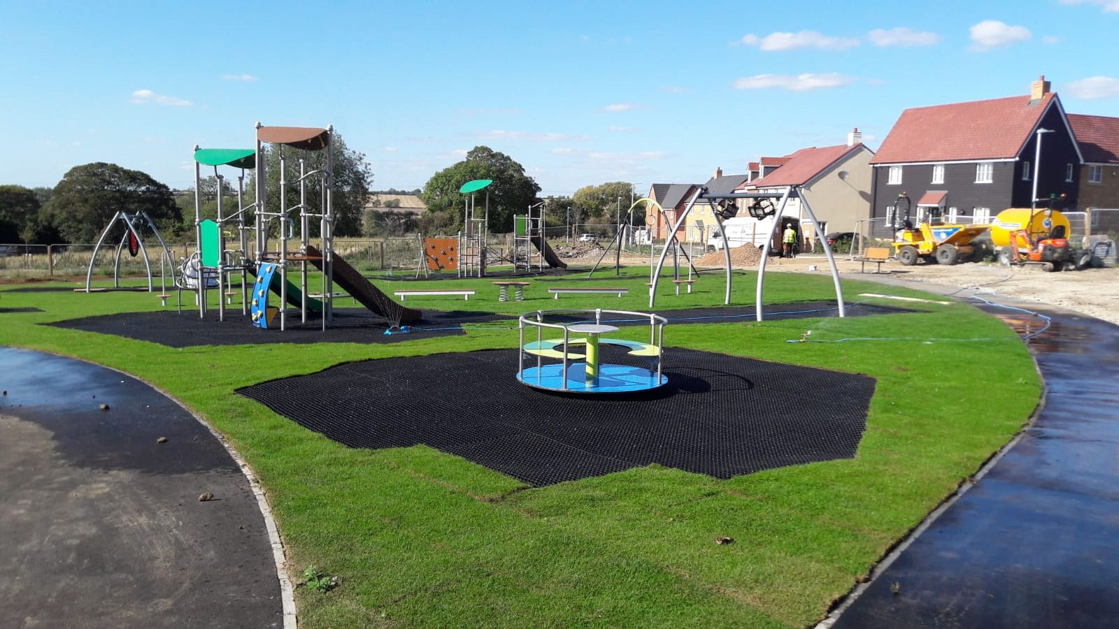 modern playground surfacing ecosmart grass mats