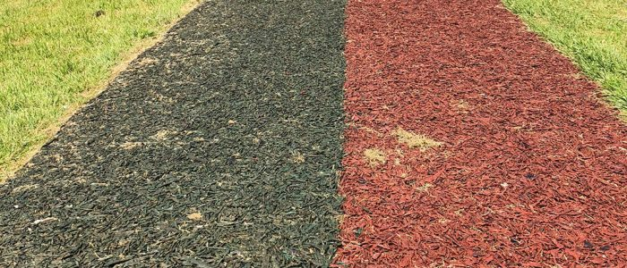 rubber mulch running track