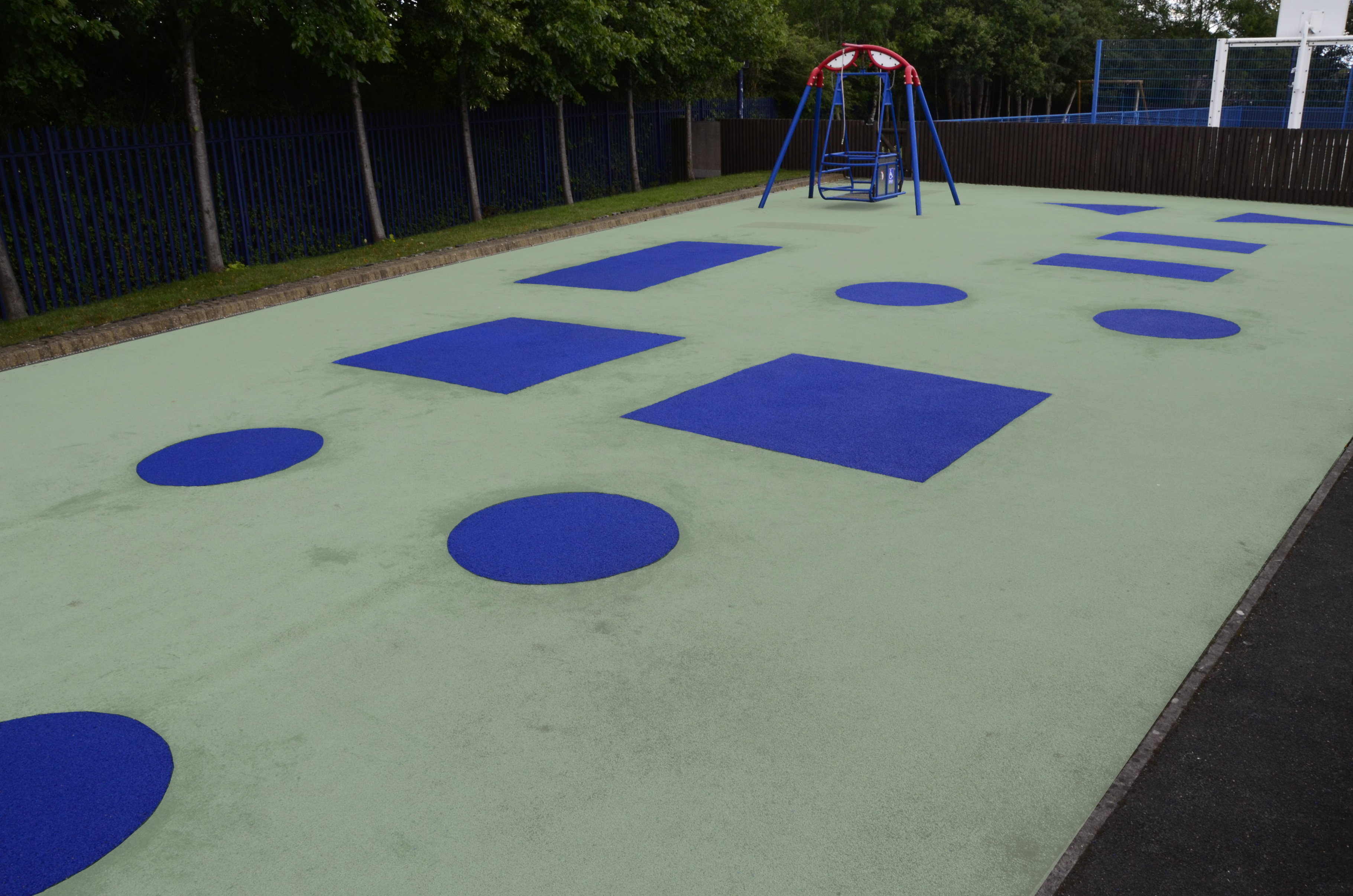 synthetic playground surfacing wet pour rubbasmart