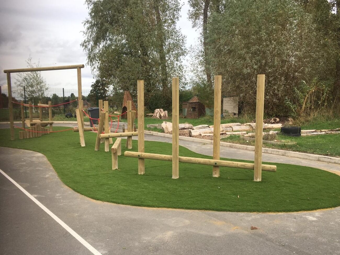 artificial grassed play area