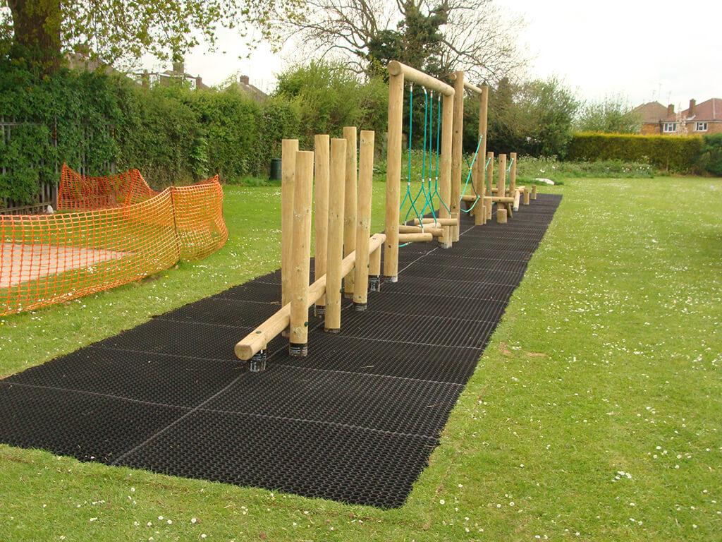 grass matting trim trail