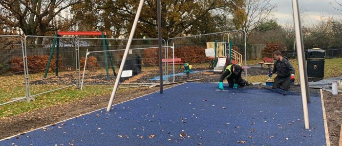 wetpour surface for swingbay