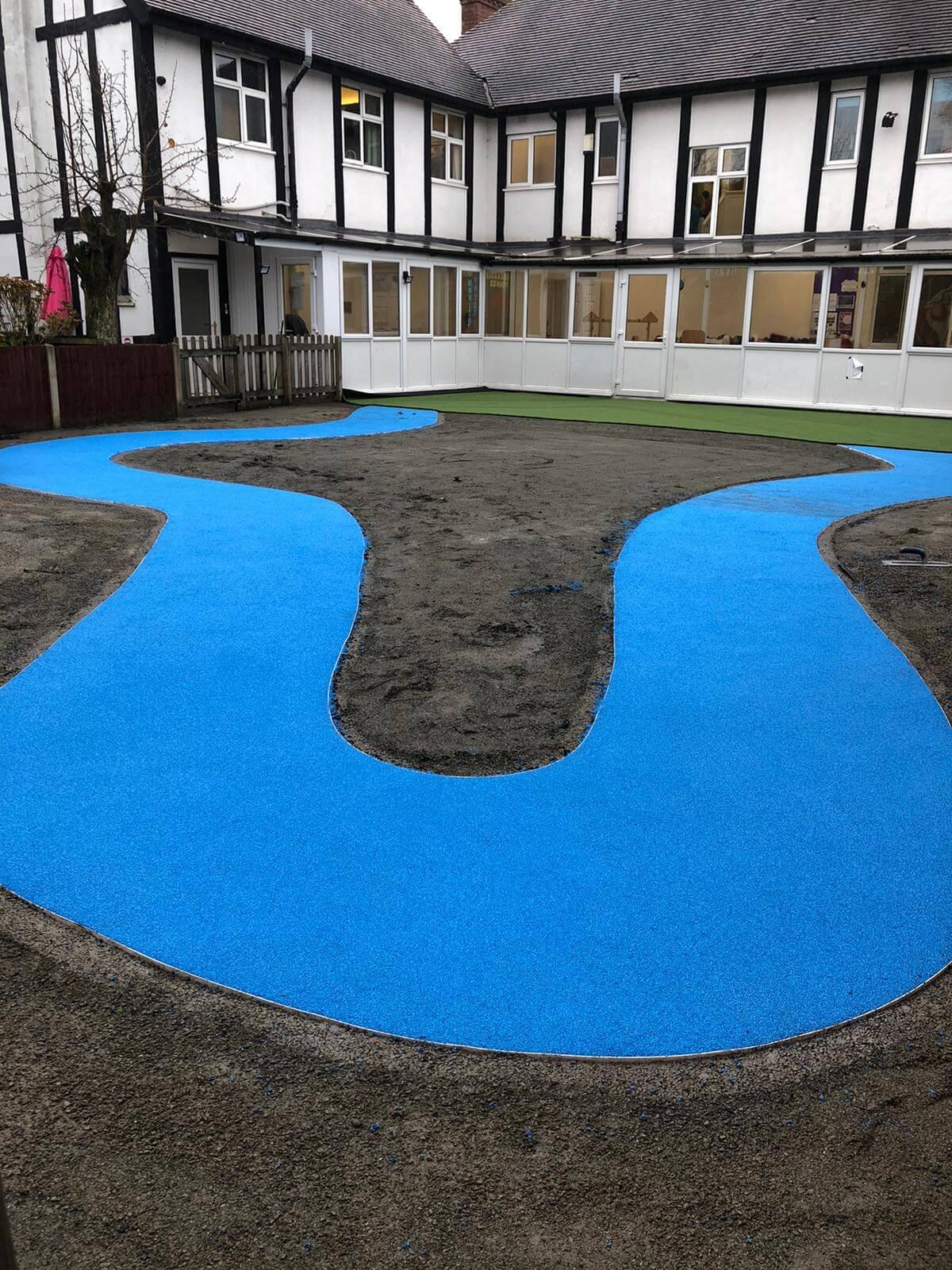 rubber wet pour pathway