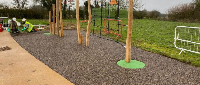 Bonded Rubber mulch for play trail