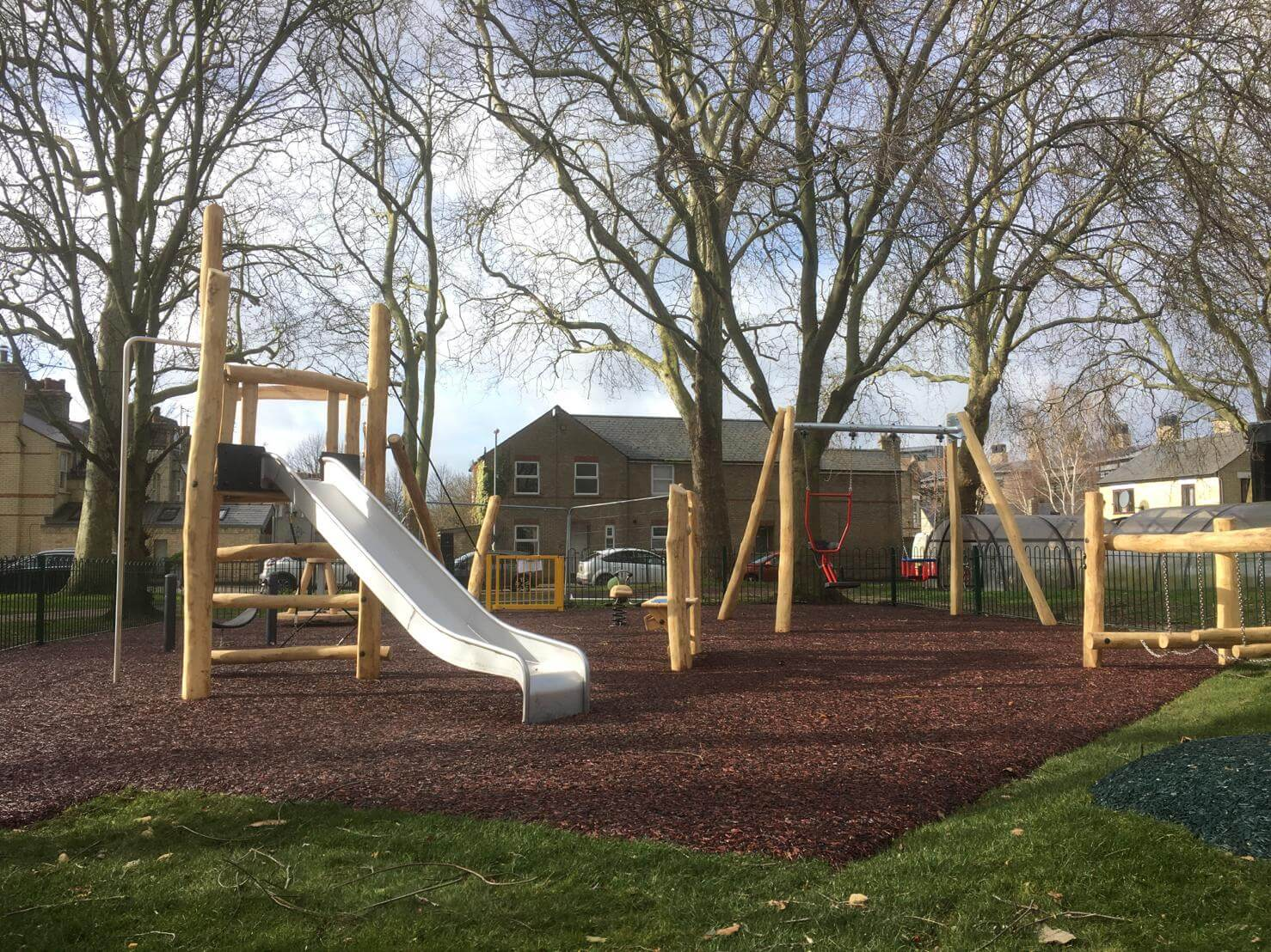 rubber mulch playground surface